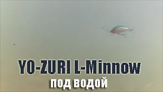 Воблер YO ZURI L-Minnow, обзор воблера под водой