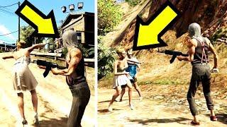 ماذا يحدث وسط قرية المجانين إذا أعطيتهم قربان في جي تي أي 5 ؟ | GTA V Cannibal Camp