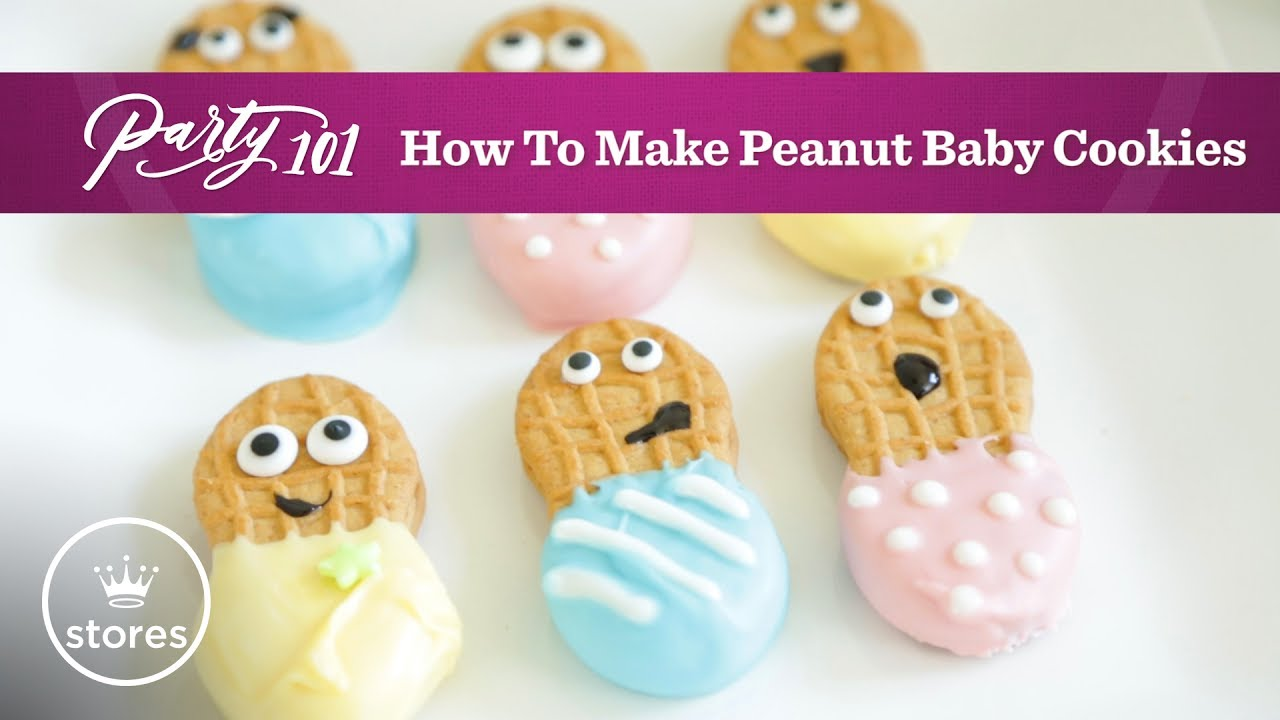 How To Make Peanut Butter Baby Cookies Party 101 Youtube