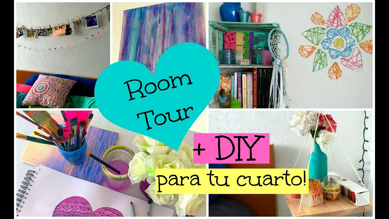 Manualidades para tu Cuarto + ROOM TOUR! ♡ Dani Hoyos Art - YouTube