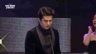 """Lee Dongwook, So Ehyun awarded the """"Fashionistar Award"""" at the 2014 Asia Model Awards"""