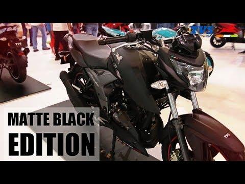 New TVS Apache RTR 160 4V | Matte Black Edition