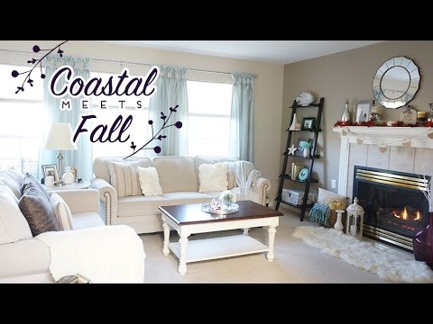 Living Room Tour | Coastal meets Fall | Fall & Thanksgiving Decor | Charmaine Dulak