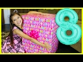 EMILY'S 8th BIRTHDAY PRESENT OPENING - What I got for my Birthday - Giant Surprise Toys Family Fun