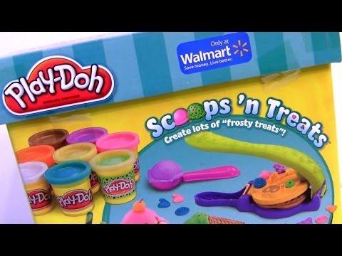 Sorveteria Mágica Play Doh Scoops n Treats Fazendo Sorvete de Massinhas Play Dough