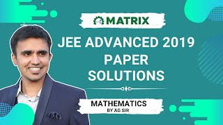 JEE Advanced 2019 Mathematics PAPER 1 Solutions