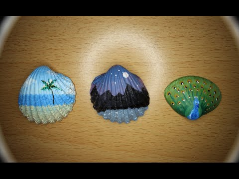 Mini Acrylic Paintings On Shells