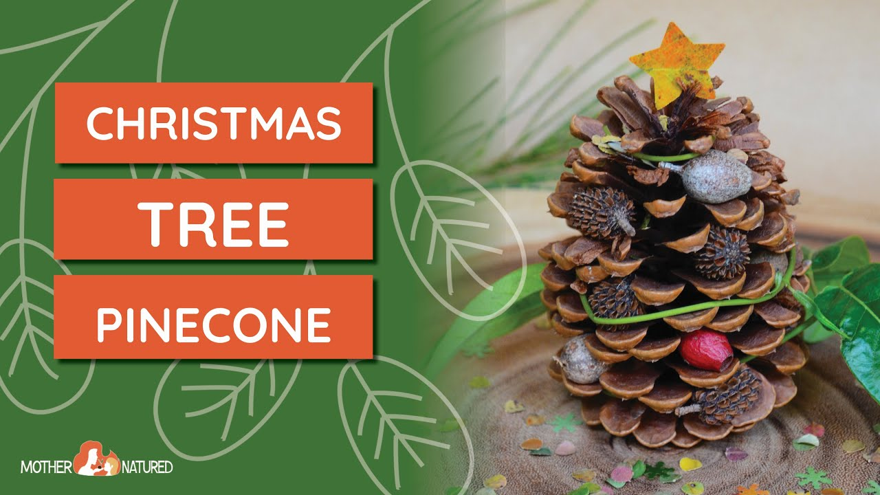 Pine Cone Christmas Tree Craft.Natural Pinecone Christmas Tree Craft