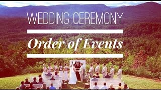 Wedding Ceremony Order of Events Video