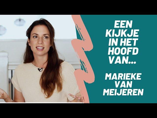 Een kijkje in het hoofd van Marieke van Meijeren | Sanny zoekt Geluk