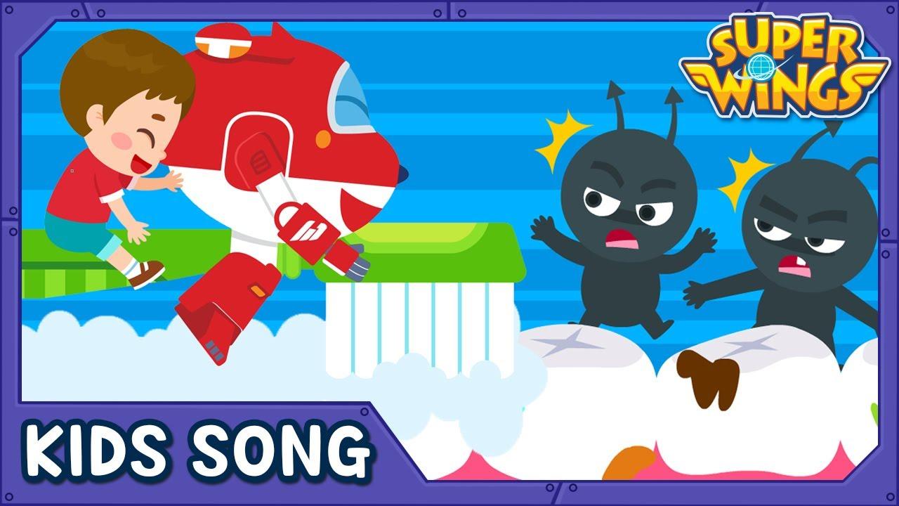 Clean Up Song | Kids Songs | Nursery Rhymes | Super wings song