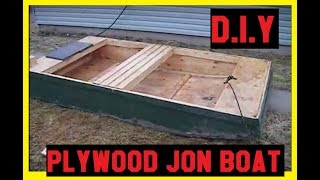 DIY Plywood Jon Boat CHEAP !