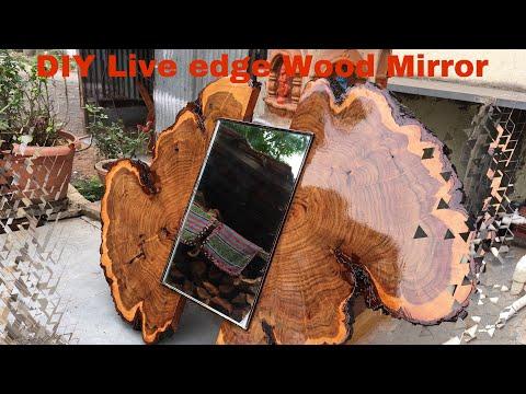 Live Edge Wood Mirror   DIY   Sanrachana
