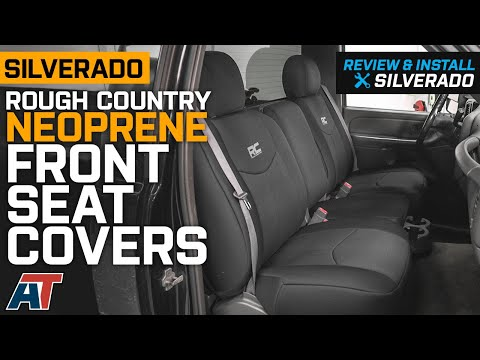 1999-2006 Silverado 1500 Rough Country Neoprene Front Seat Covers - Black Review & Install