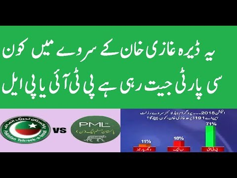 PTI or PML Which Party Wins In Dera Ghazi Khan Survey Election 2018