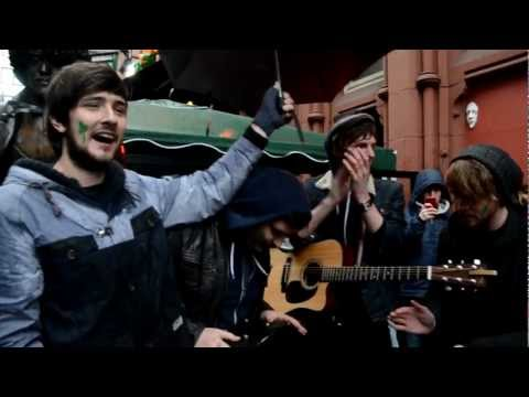 "Kodaline playing ""All I Want"" while busking on Grafton Street on St. Patrick's Day!"