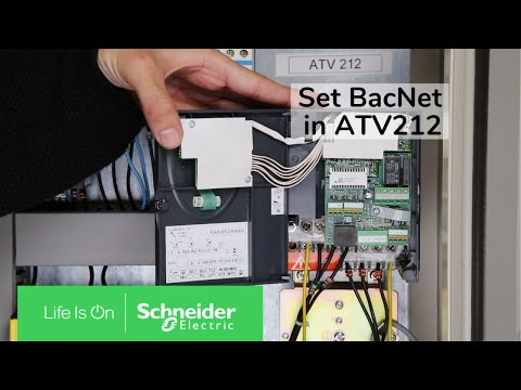 How to set BacNet communication in ATV212?
