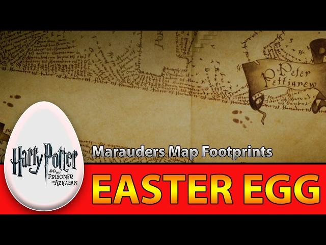 Harry Potter and the Prisoner of Azkaban - Marauders Map Footprints Easter Egg | Eggabase.com
