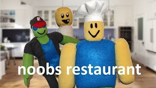roblox plush series season 3! episode 2 noobs restaurant
