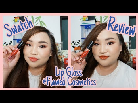 Review + Swatch Flawed Lip Gloss
