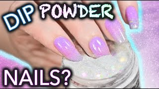 DIY Dip Powder Nails (do not snort)
