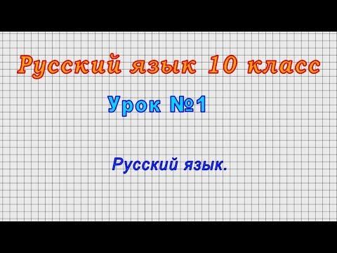 Видеоурок по русскому языку 10 класс