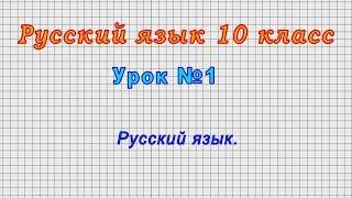 Русский язык 10 класс (Урок№1 - Русский язык.)