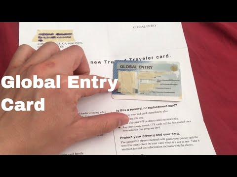 🔴 Global Entry Card Opening Package And Overview 🔴