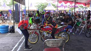 SANGAR! NINJA SEMI CUSTOM Ikutan BALAP DRAG BIKE 201M GDS FUN