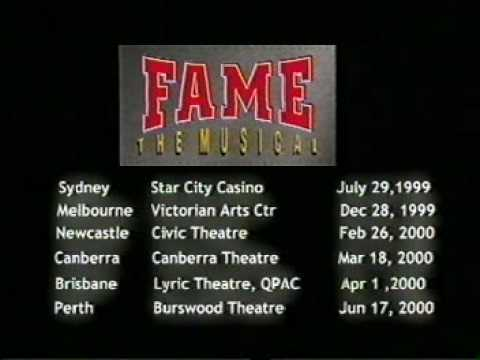 Fame the musical Australia Producers Thanks you video