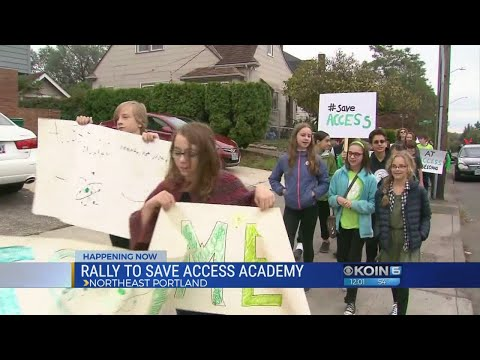 Students walk out at Access Academy