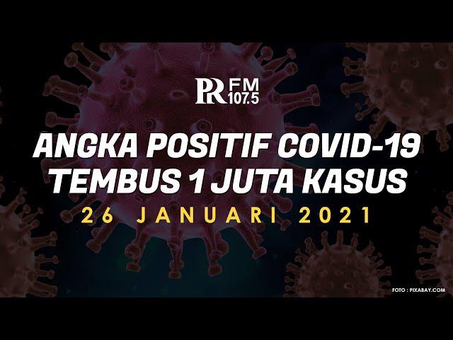 Breaking News: Total Angka Positif Covid-19 di Indonesia Tembus 1 Juta Kasus