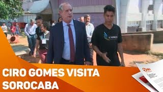 Presidenciável Ciro Gomes visita Sorocaba - TV SOROCABA/SBT