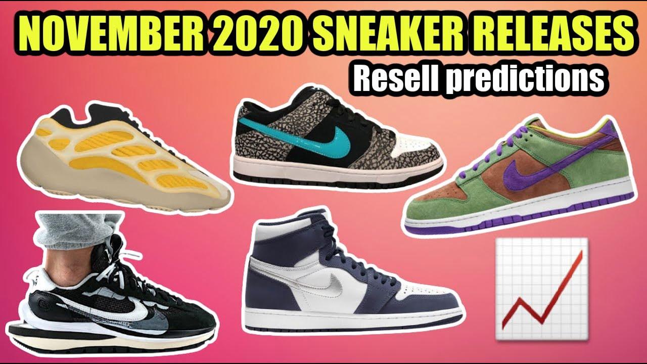 NOVEMBER 2020 SNEAKER RELEASES - BEST