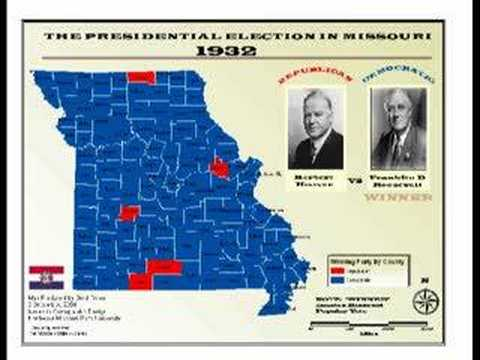 Missouri Presidential Elections from 1860 to 2004