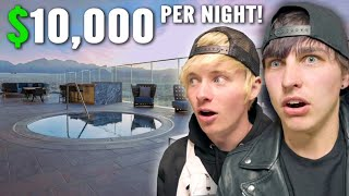 OVERNIGHT in Most Expensive Hotel Room! (Las Vegas)