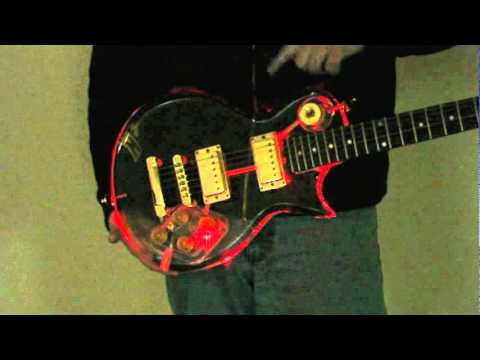 Galveston Acrylic LED guitar mod - YouTube