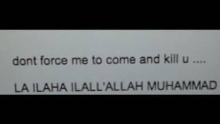 l received a death threat ...