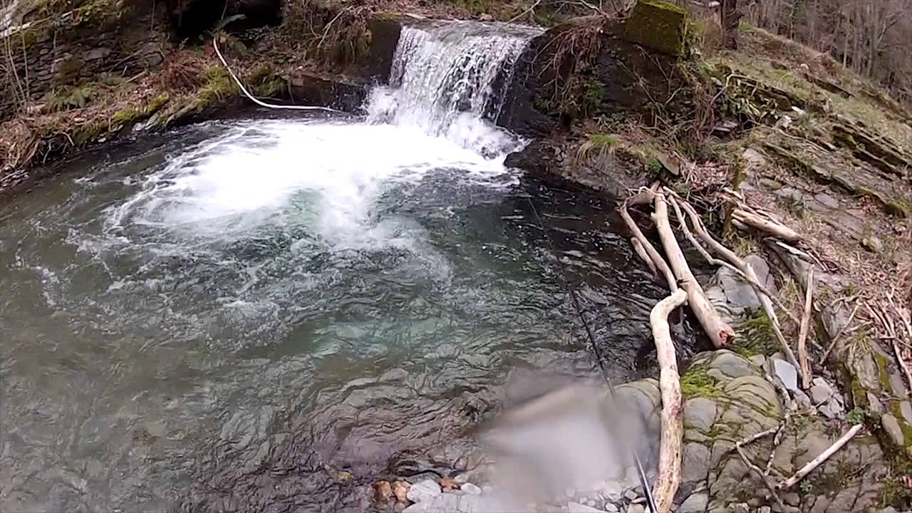 peche a la truite dans un ruisseau