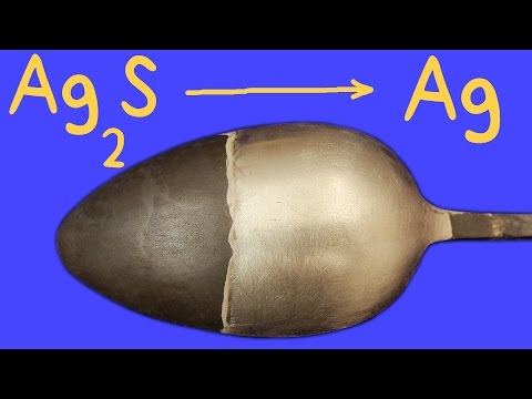 Cómo Limpiar plata. Reaccion REDOX Electroquímica