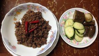 ឆាកាពិសាច់ជ្រូក | Asian food | Cambodia food | Khmer food | Asian food compilation #17