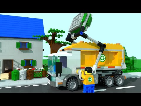 Lego City Garbage Trucks for Children, Kids. Garbage Truck Cartoon