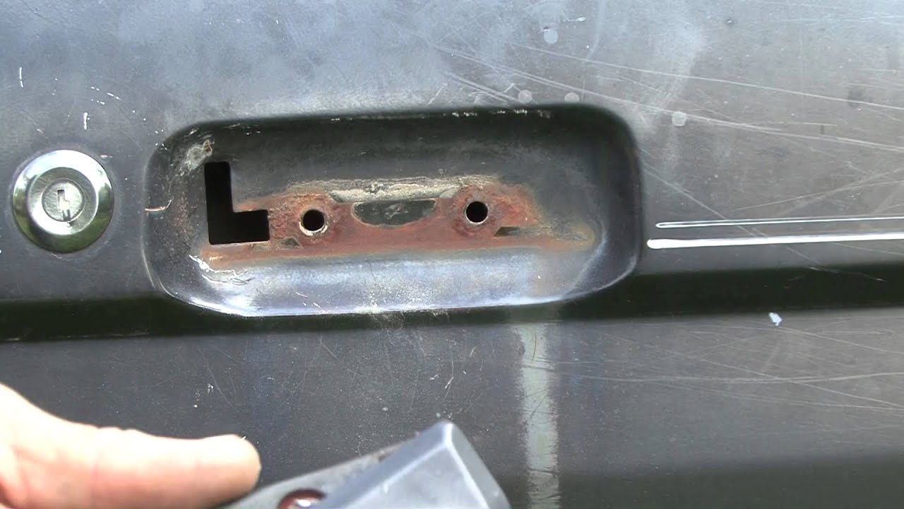 How to repair your ford broken door handle - YouTube