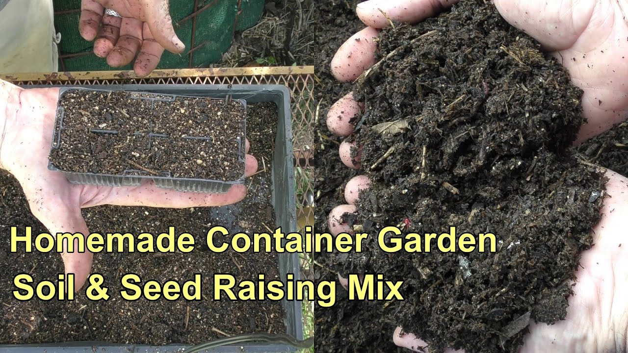 Homemade Container Soil U0026 Seed Raising Mix   YouTube