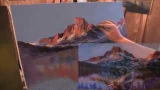 """Видеоурок Сахарова """"Как научиться рисовать горы,свет"""" живопись для начинающих, уроки рисования"""