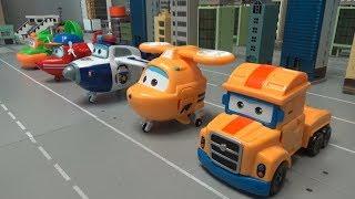 슈퍼윙스 비행기 자동차 로봇 변신 장난감 놀이 Supe…