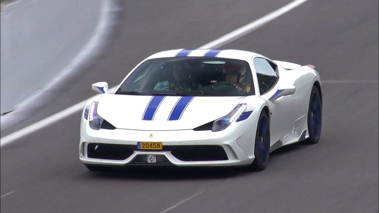 Customized Ferrari 458 Speciale Start Up Fly By Accelerations Youtube
