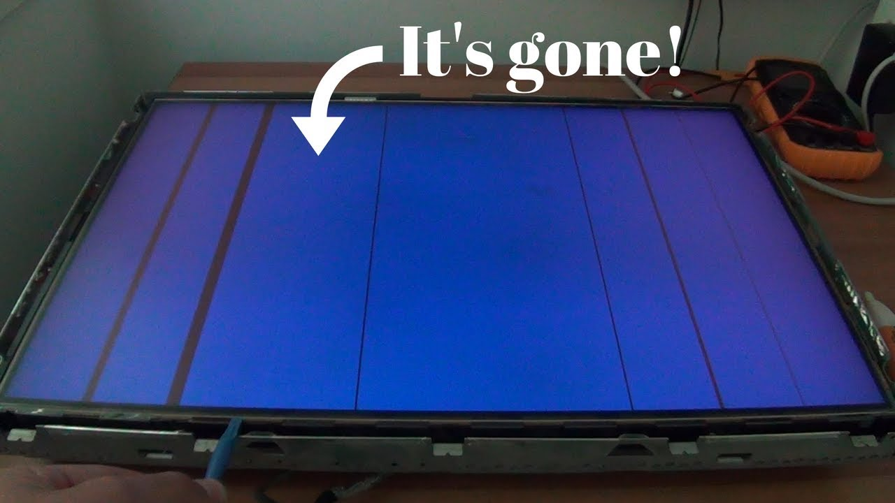 How To Fix Vertical Lines On An Lcd Tv Or Monitor Youtube