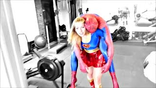 SPIDERMAN VS SUPERGIRL - REAL LIFE