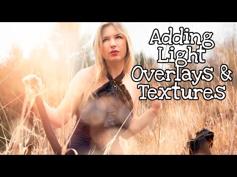 How to add light textures, bokeh overlays, rays, and sun flare stock to photography |Adobe Photoshop